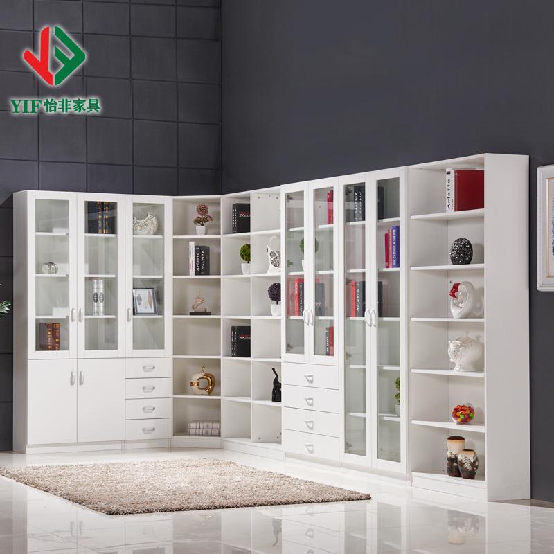 怡非家具转角书柜书架自由组合特价书柜简约展示柜架组合文件柜