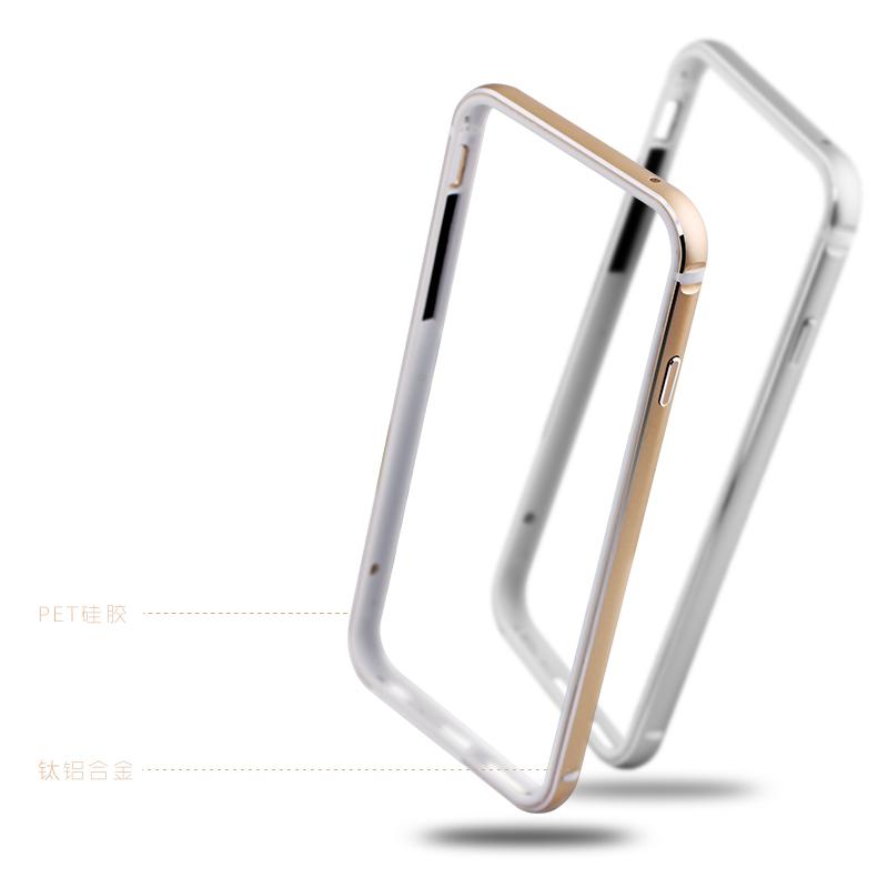伊沃奧 iphone6手機殼 蘋果6手機套I6s金屬邊框4.7矽膠保護殼