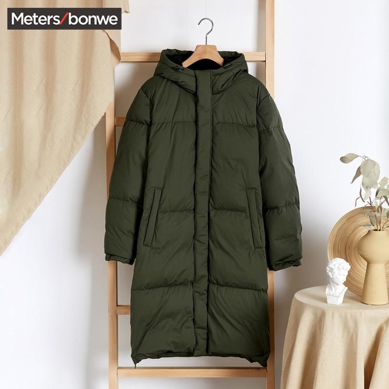 美特斯邦威羽绒服男冬季韩版潮流长款加厚保暖防寒青年学生外套男