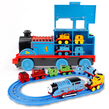 Big Inertial Train Toy Alloy Electric Track Set Puzzle Children's Boy Car 3-6 Years Old