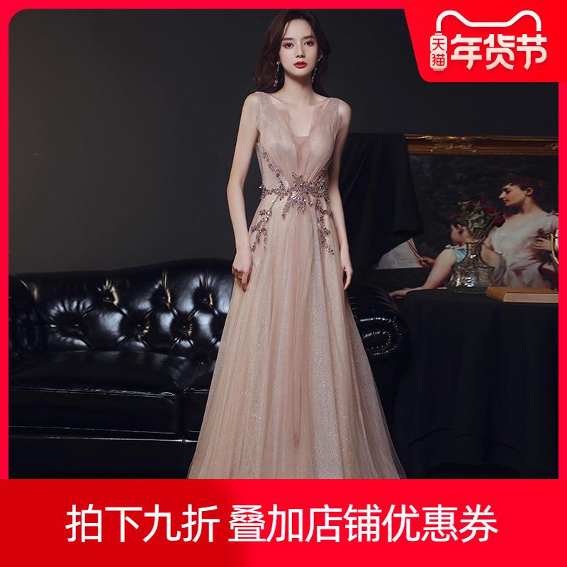 女2020新款气场女王气质名媛晚礼服