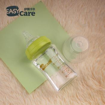 伊斯卡尔新生儿宽口防呛防胀气玻璃奶瓶