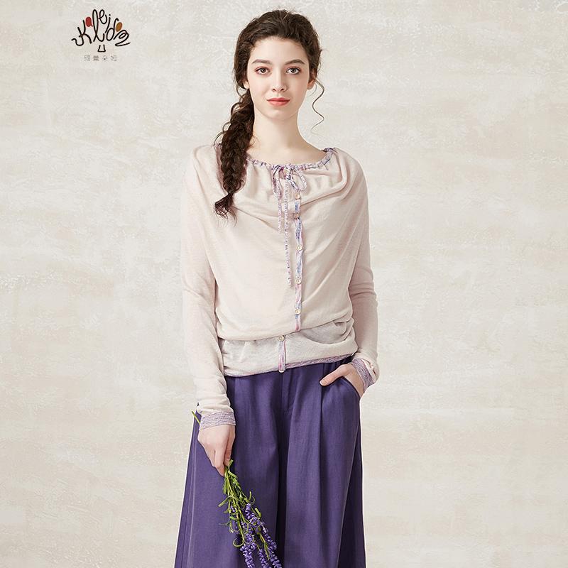 珂蕾朵姆2018秋装新款女装时尚宽松显瘦套头针织衫K2141K06