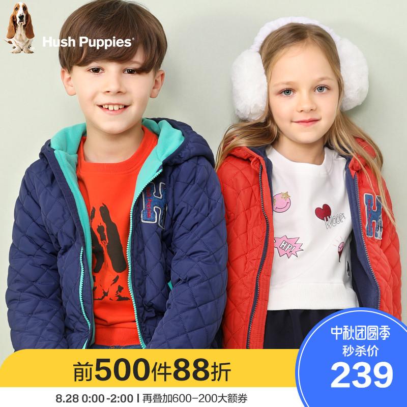 暇步士儿童男童棉服外套女童棉袄新款中大童棉衣冬装洋气童装