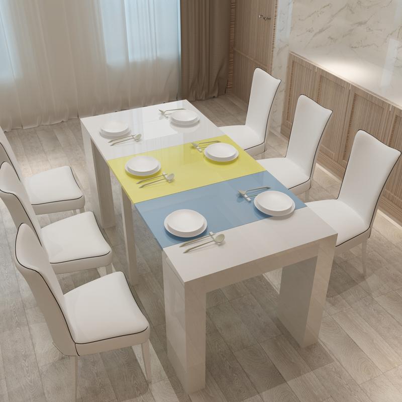 伸缩餐桌拉伸折叠家用10人组合桌子限时抢购