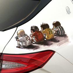 汽车3D立体引擎盖装饰创意拉花贴纸保险杠车身划痕遮挡个性车贴花