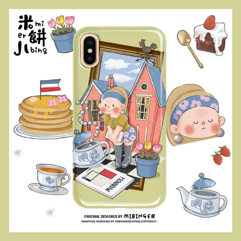 米饼儿珍珠少女iphonex创意手机壳10月12日最新优惠