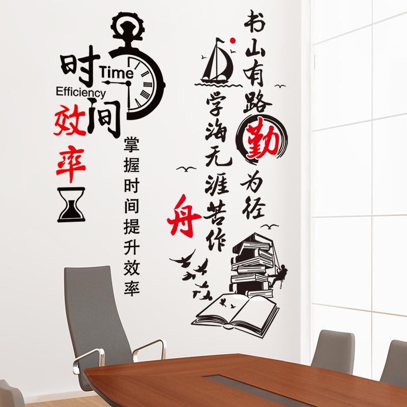 学校教室布置培训班办公室公司企业文化墙面装饰墙贴励志贴纸标语