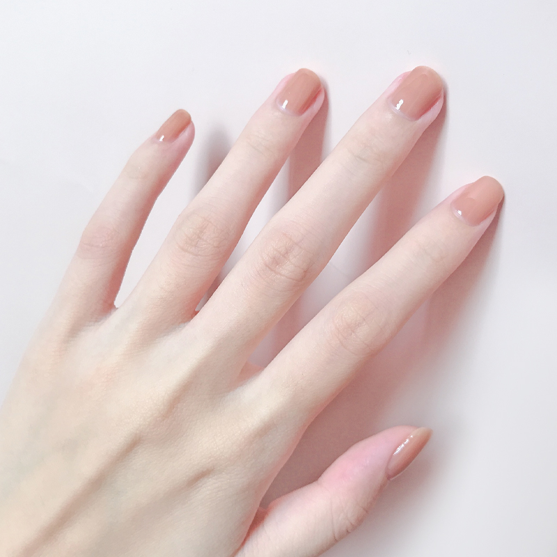 裸色指甲油无毒无味护甲孕妇免烤快干可撕拉持久透明秋冬色系一然