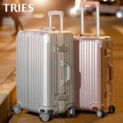 才子行李箱女男密码24寸铝框旅行拉杆箱万向轮20寸学生皮箱子28寸