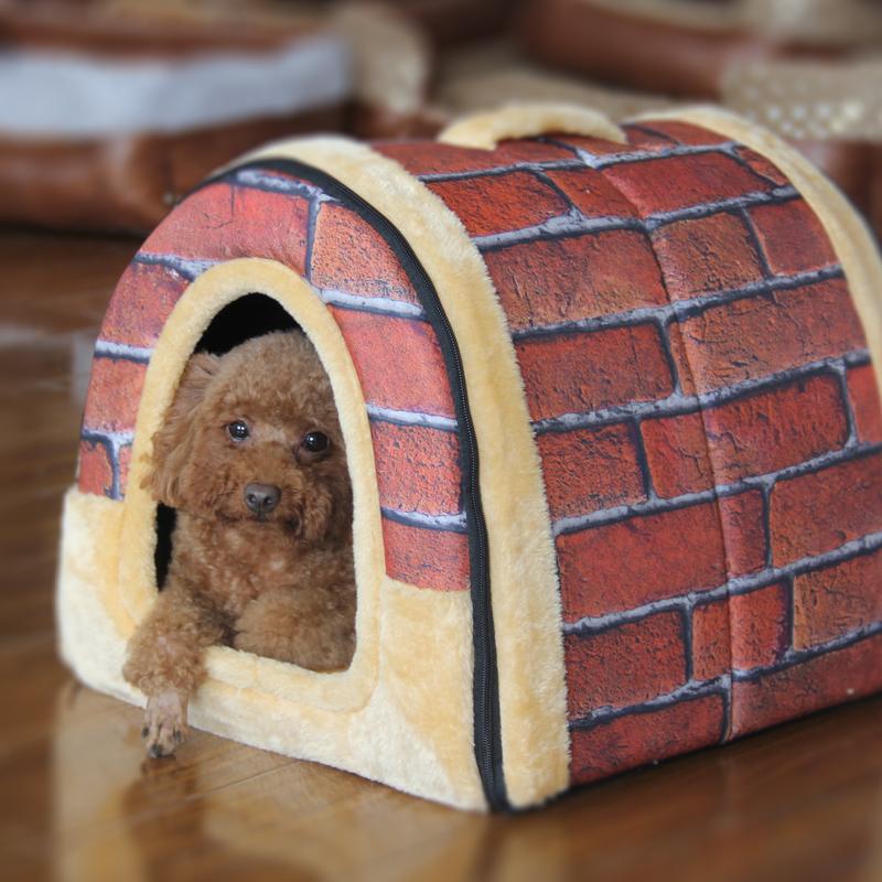 寵物可拆洗圓弧房子 狗窩貓窩 泰迪比熊狗狗房 寵物用品窩墊子