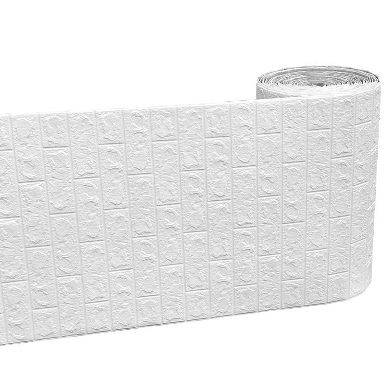 连续式墙纸自粘温馨泡沫砖壁纸墙贴能入手吗