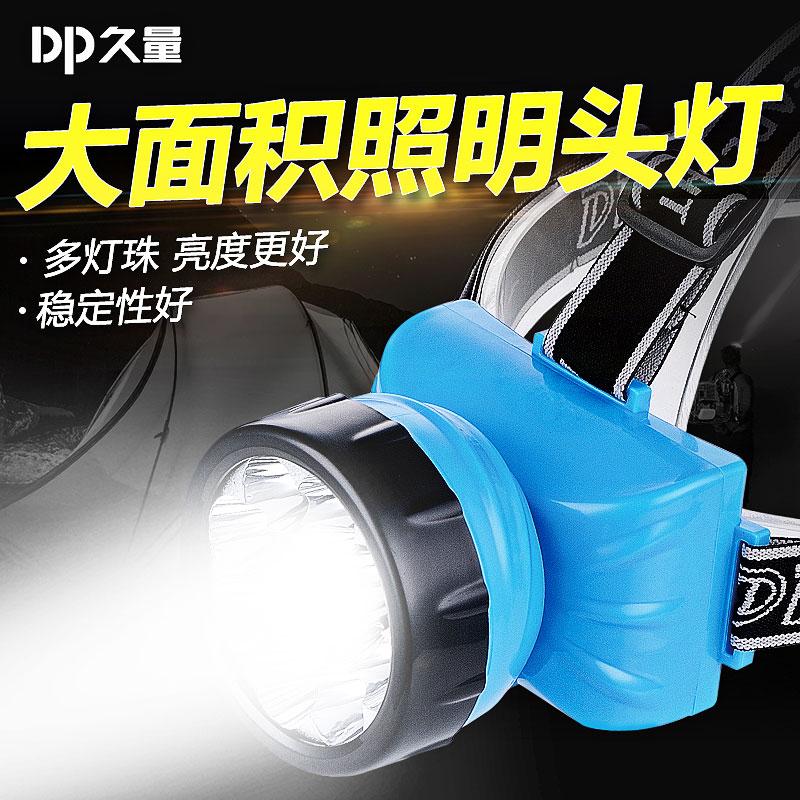 久量LED小矿工头灯户外强光可充电家用头顶灯超亮头戴式超轻小号 thumbnail