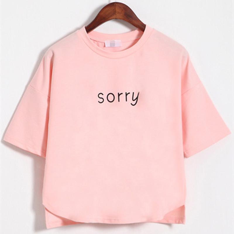 夏季夏装韩国字母韩版女装百搭学生宽松短款短袖t恤短装上衣少女