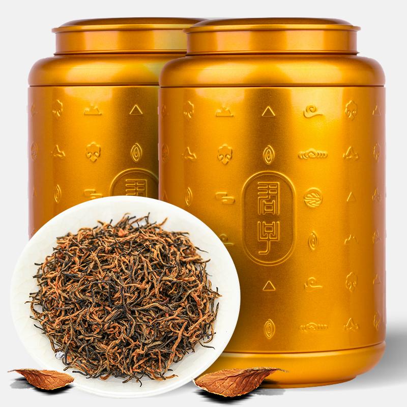 甲茶郎金駿眉紅茶葉蜜香型礼箱は特級正統の濃い香り型の小袋を詰めて黄歯の缶入りにします。