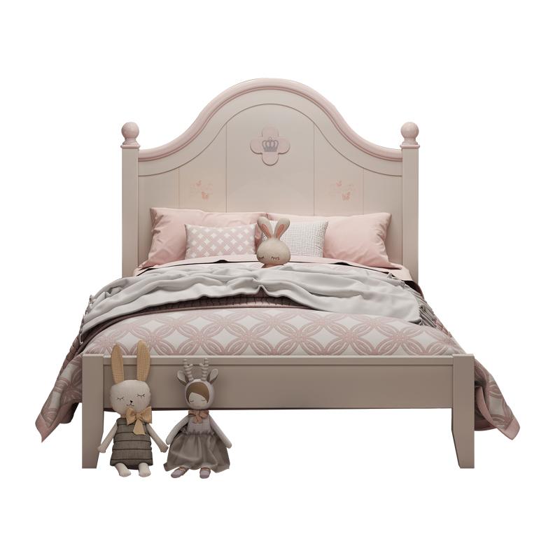 实木女孩儿童房家具套装女生儿童床质量如何