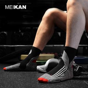 MEIKAN专业户外运动袜子男士骑行跑步中筒COOLMAX速干透气篮球袜