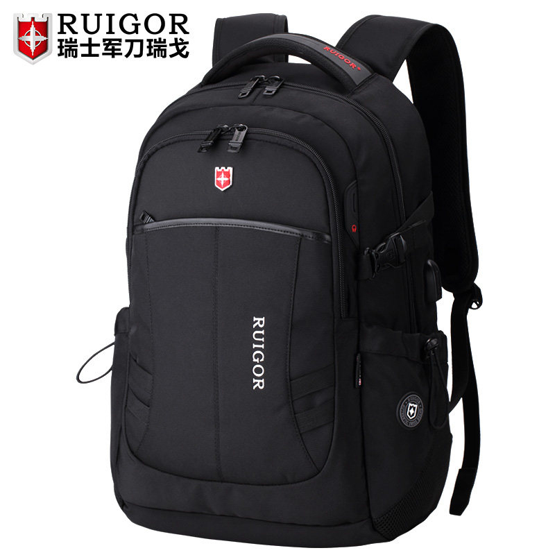Swiss sergeant Ruigo new business backpack big capacity travel bag Swiss shoulder bag anti-theft computer bag male
