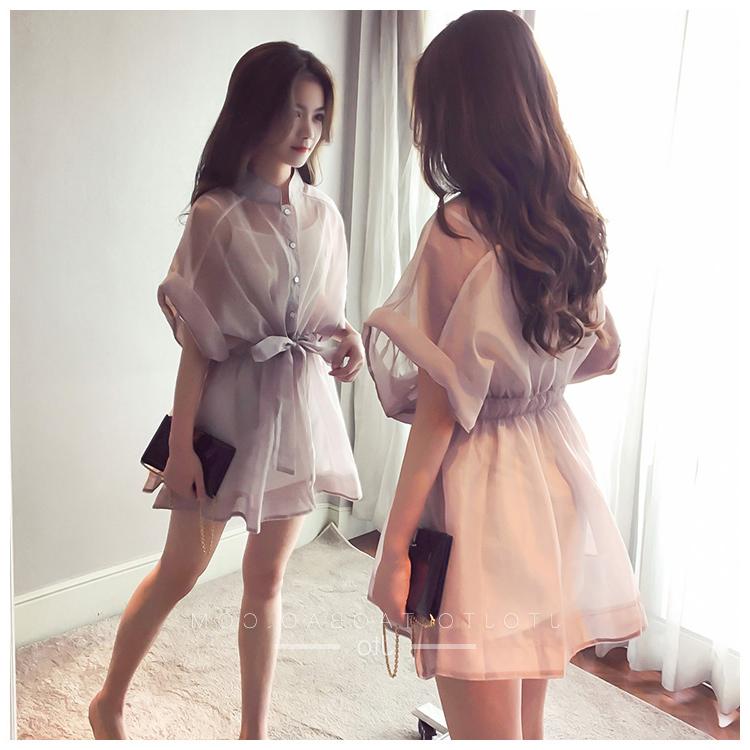 2018大码女装胖mm夏装洋气减龄两件套装胖妹妹最爱显瘦仙女连衣裙