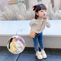 查看宝宝套头毛衣儿童装女童洋气线衣中小童2021春秋装新款打底针织衫价格