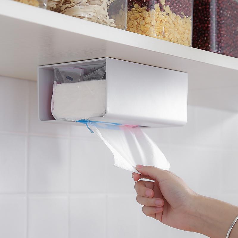 免打孔厨房客厅挂厕所壁挂式纸巾盒(非品牌)