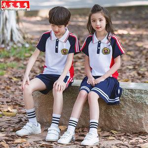 男童幼儿园夏装小学生班服毕业园服