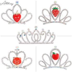 儿童头饰可爱公主小皇冠女孩王冠韩式女童发梳生日发卡宝宝发饰品