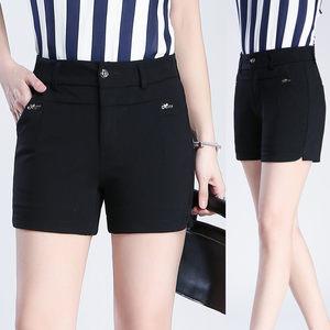 西装短裤女夏季2020年新款春秋中年大码高腰百搭显瘦黑色外穿修身