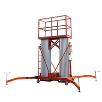 Aluminum alloy lift Single column mobile lifting cargo ladder electric small hydraulic lifting platform aerial vehicle