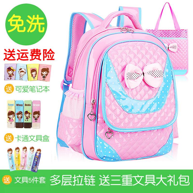 Корейский дети студент портфель 1-3-4-6 класс девочки портфель 6-12 полный год симпатичная девушка рюкзак