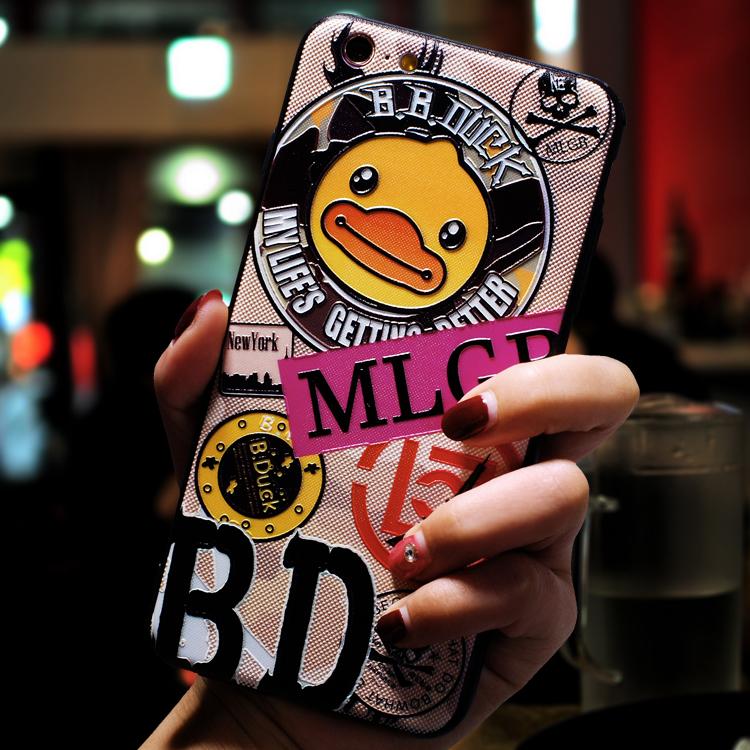 浮雕蘋果6splus手機殼iphone6s六七全包防摔套潮牌男女款7P日韓國