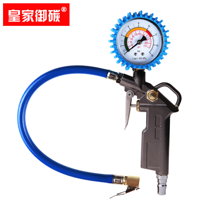 高精度汽車胎壓計車用胎壓表 輪胎氣壓表 數顯胎壓監測充氣槍放氣