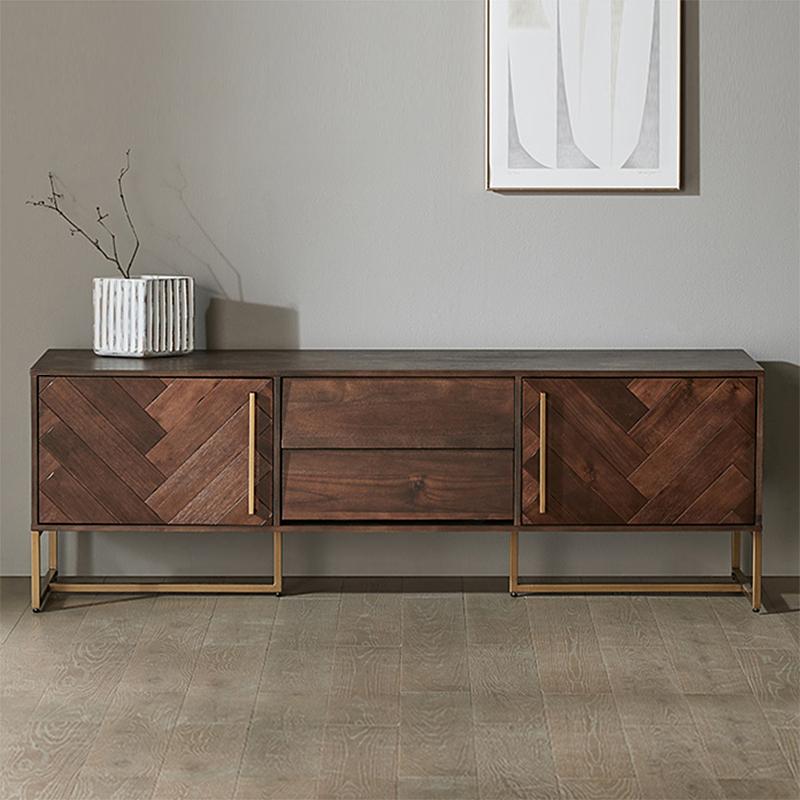 北欧全实木电视柜美式现代简约小户型工业风地柜客厅柜储物柜组合