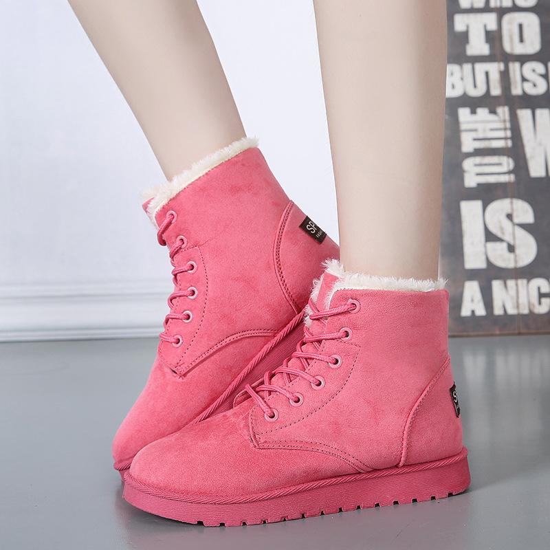 防水女经典雪地靴冬季保暖棉鞋学生休闲加绒加厚平底防滑女靴