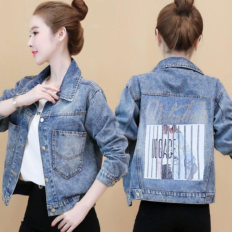 Denim jacket women short section 2020 spring and autumn new Korean version of Hong Kong style loose students
