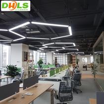 办公室吊灯舞蹈教室学校网吧健身房休闲区创意造型led长条灯超亮