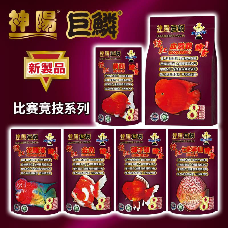 神阳新品巨鳞热带鱼血鹦鹉兰寿金鱼狮子头花罗汉七彩神-鱼饲料(神阳旗舰店仅售57元)