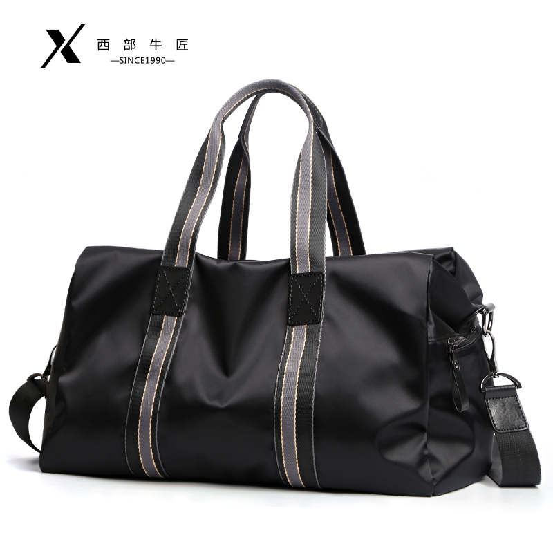Dry and wet separation travel bag men's hand-held short-distance business trip large-capacity one-shoulder messenger tide Oxford travel duffel bag