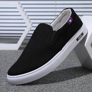 新款老北京男士潮流一脚蹬休闲鞋