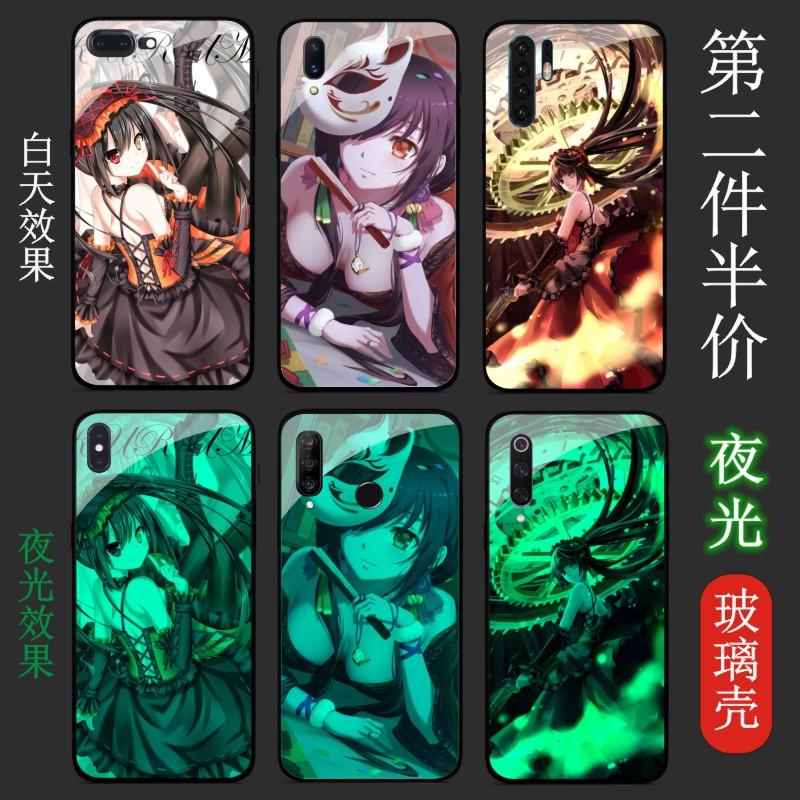 约会大作战洛基亚7.1狂三夜光手机壳X7钢化玻璃x6镜面X5动漫定制