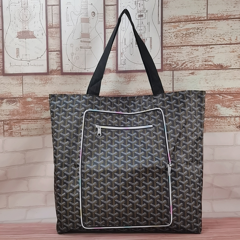 Lining zipper handbag out one shoulder bag with baby bag for clothes travel bag foldable environmental protection shopping bag