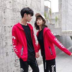 (控128)情侣运动套装男女秋新款休闲卫衣青少年两件套TZ868P95