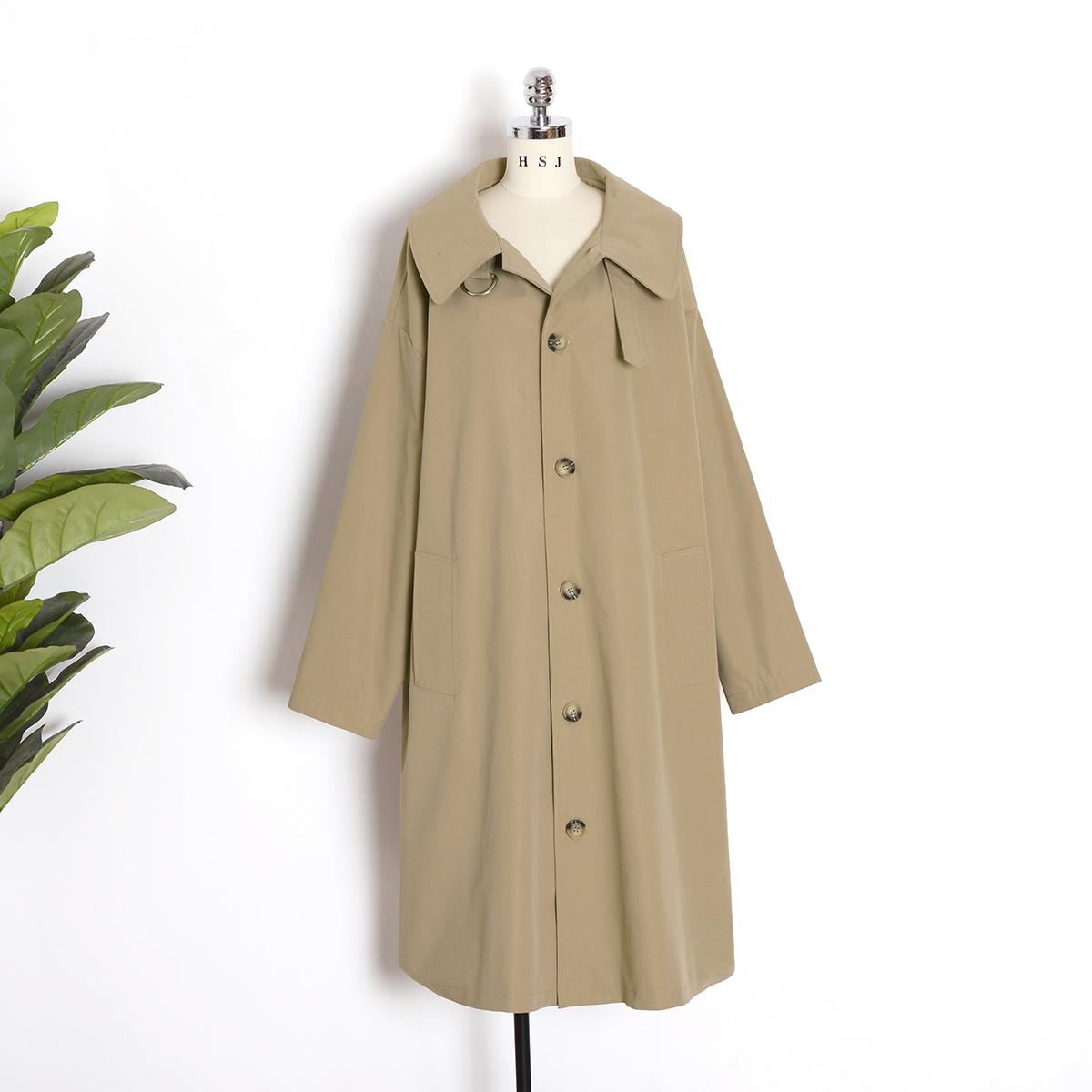 新款韩版宽松流行大衣中长款百搭风衣外套女风衣王2020