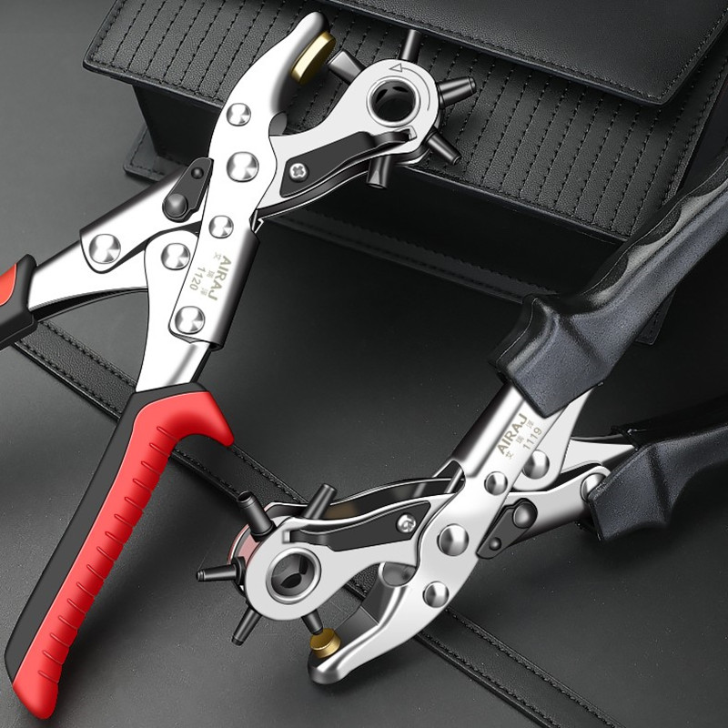 Perforating multi-purpose labor-saving multi-functional punching pliers opening sandals with manual pliers eye piercing manual drilling and pressing hole round head