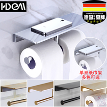 钢盒包邮304厕所纸商用大盘纸巾盒檫手纸盒卫生间圆形大卷纸架