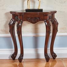 美式玄关桌子靠墙欧式玄关柜沙发后背柜背几墙边柜半圆窄条案供桌