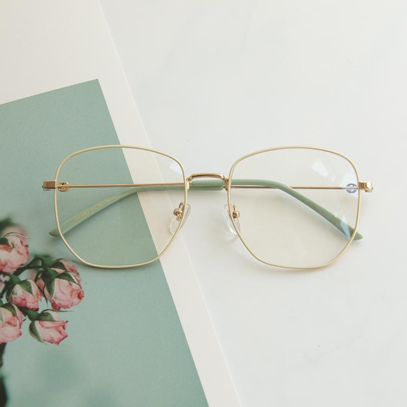 Ni Nis same glasses frame womens net red big frame big face thin myopia glasses retro frame tide matching degree