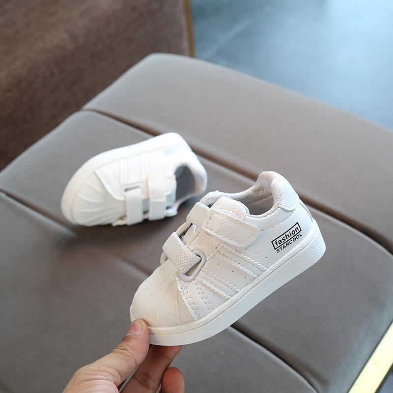 春秋季新款婴儿软底透气小白鞋1-2-3岁男宝宝运动板鞋女童单鞋潮
