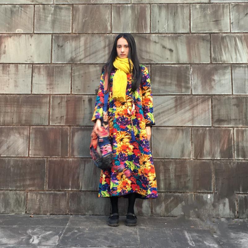 【瑰丽】素心自制民族风加厚连衣裙