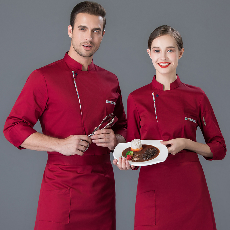 Hotel Restaurant Chef Uniform autumn and winter clothes long sleeve chefs clothing local restaurant private kitchen restaurant kitchen work clothes